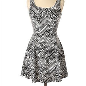 H&M Divided Black and White Aztec print Dress